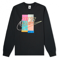 NIKE X ATMOS : LONG SLEEVE TEE BLACK