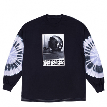 PLEASURES : HAIRCUT TYE DYE LS TEE