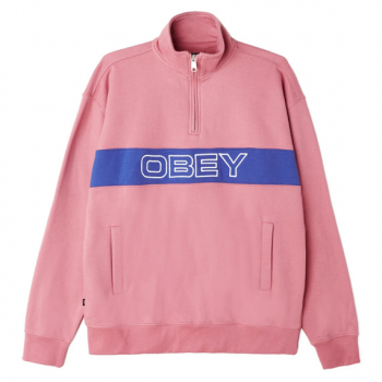 OBEY : COURT ZIP MOCK