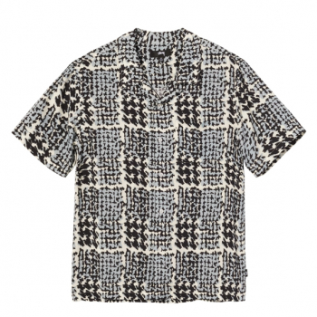 STUSSY : HAND DRAWN HOUNDSTOOTH SHIRT